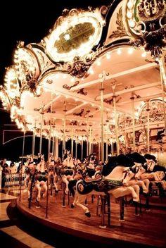 My hometown had a circus carrousel much like this one. Buckeye Lake, Lotte World, Carnival Rides, Night Circus, Painted Pony, Fun Fair, Carousel Horses, Tour Eiffel, Photos
