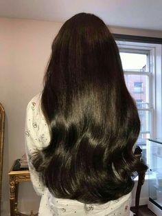 Beautiful Long Hair, Gorgeous Hair, Long Dark Hair, Long Silky Hair, Great Hair, Pretty Hairstyles, Black Hairstyles, Barber Hairstyles, Wavy Hair