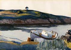 Edward Hopper  Coast Guard Cove   1929. Watercolor on paper. 35,6 x 50,8 cm. Private collection.