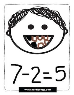 Loose Tooth Subtraction! Black out teeth to go with the equation - for the first grade tooth obsessed