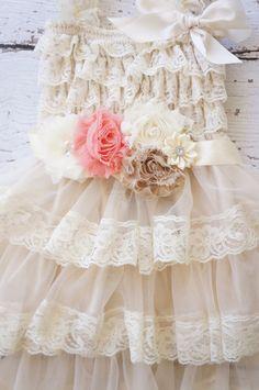 Flower Girl Dress  Lace Flower girl dress  Baby by PoshPeanutKids, $50.00