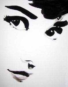 Watercolor portrait of Audrey Hepburn by Teresa Markos.i want this on my house someday. Audrey Hepburn Tattoo, Audrey Hepburn Drawing, Audrey Hepburn Illustration, Stencil Art, Stencils, Watercolor Portraits, Artists Like, Looks Style, My Idol