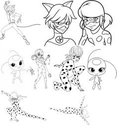 Miraculous Ladybug Coloring Pages Printable Elegant Miraculous Lady Bug E Cat Noir Para Imprimir E Colorir Ladybug Coloring Page, Fall Coloring Pages, Disney Coloring Pages, Animal Coloring Pages, Free Printable Coloring Pages, Easy Cartoon Drawings, Cartoon Girl Drawing, Machine Silhouette Portrait, Lady Bug