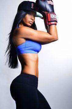 black fit girls | fit black female arms | pilar sanders # girl abs # fitspo | Body envy