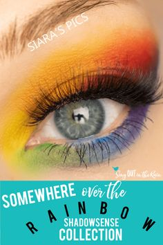 The Rainbow ShadowSense Collection by SeneGence truly takes you somewhere over the rainbow with Red, Orange, Yellow, Green, Blue, Indigo & Violet Eyeshadow Colors.  As a makeup artist or a makeup lover you can create ANY color you can imagine with this set and a few drops of white or black - known as snow and onyx to senegence enthusiasts.  Click here to purchase YOUR very own set of these Limited Edition colors NOW!  #senegence #shadowsense #rainbow #pride #customcolors #makeupartist