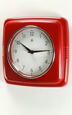 Image Of Purity Red Kitchen Clock