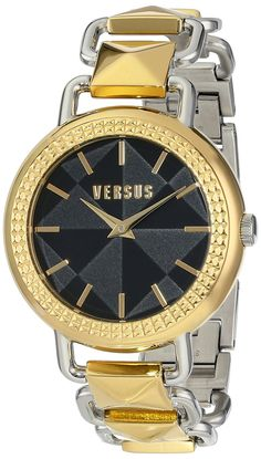Versus by Versace Women's SOA050014 Coconut Grove Analog Display Quartz Gold Watch -- Visit the image link more details.