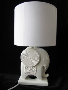 Happy Chic By Jonathan Adler Laura Elephant Lamp White Ceramic Retail $75  NWT