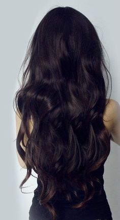 Long dark hair
