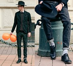 Get this look: http://lb.nu/look/6790502  More looks by Chaby H.: http://lb.nu/user/86299-Chaby-H  Items in this look:  Spf Black Blazer, Spf Skinny Jeans, Leather Shoes, Fedora Hat   #chic #elegant #vintage #style #dapper #casual #nyc #winter #menswear