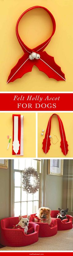 Get your pet into the holiday spirit with this decorative ascot.