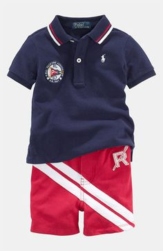 Ralph Lauren Polo & Shorts (Infant) available at #Nordstrom
