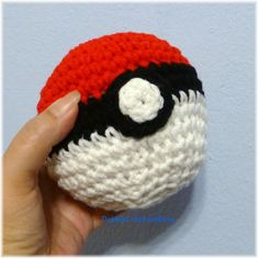 Red White Black Soft Ball Pokemon Inspired 15 inches