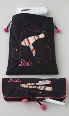 Personalized hair dryer & flat iron bag http://rstyle.me/n/dgtyenyg6