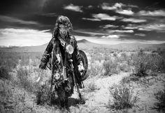 Tuvan shaman Adygzhi (=Owl Spirit) photographed by Nicolas Pernot