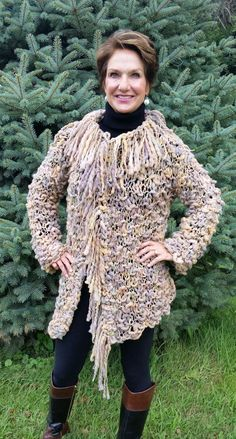 Hey, I found this really awesome Etsy listing at https://www.etsy.com/listing/458631002/hand-knit-sweater-coat-with-fringe