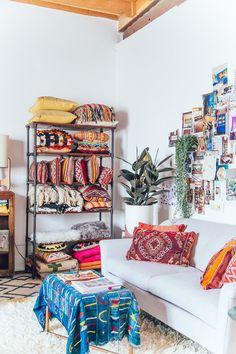 1 Amazing Studio + 5 Small Space Tips by Justina Blakeney
