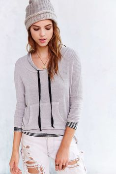 BDG Loungin Out Hoodie Top - Urban Outfitters