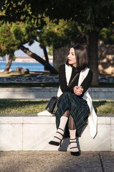 tartan pleated skirt look Stella Asteria