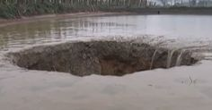 A fish farm in China's Guangxi Zhuang autonomous region suffers irreplaceable losses after a sinkhole sucks down all of the fish.