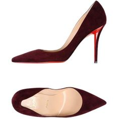 Christian Louboutin Court (1.890 BRL) ❤ liked on Polyvore featuring shoes, pumps, garnet, christian louboutin, leather shoes, animal shoes, real leather shoes and spiked heel shoes