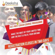 Crack #CET/ #NEET by joining Deeksha's #CrashCourse Programme.  Hurry up, register online now   #KCET2018 #NEET2018 #EntranceExamPrep