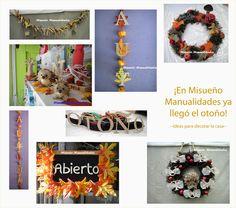 Una composición de varias cosas que creamos para la decoración del escaparate y la tienda en otoño. www.misuenyo.com / www.misuenyo.es