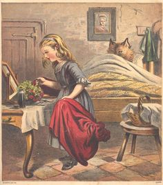 Little Red Riding Hood.  - Amsterdam: KH Schadd, [1868].  Signature BJ Z 1843. A Dutch edition with plates of the English printer Kronheim & Co.  In the version of Perrault: Grandmother and Little Red Riding Hood being eaten: end of story.