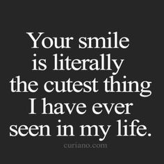 Your little crooked smile!! First thing I noticed about you the day we met on the lake. #stillgetbutterflies