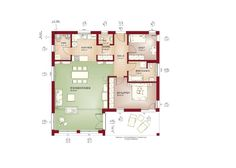 Flachdachbungalow Modern grundriss zweifamilienhaus erdgeschoss haus celebration 275 v2