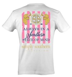 b4af0789 Simply Southern Southern State of Mind T-shirt - White - Medium. Simply  Southern T ShirtsPreppy ...