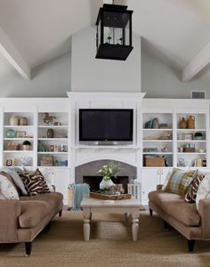 Wall color is Comfort Gray by Benajmin Moore.  Amazing before and after transformation from Sherry Hart-design indulgence