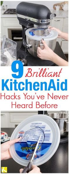 DIY Home Decor Inspiration : Illustration Description These 8 Brilliant KitchenAid hacks are THE BEST! I'm so glad I found these AWESOME tips and tricks! Now I can save time with my cooking and even during the holidays! -Read More – Kitchen Aid Recipes, Kitchen Gadgets, Dishes Recipes, Kitchen Tools, Cake Recipes, Meal Recipes, Lunch Recipes, Cooking Recipes, Healthy Recipes