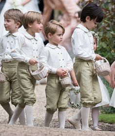 (2nd-R) Pageboy Prince George of Cambridge attends the wedding his auntie Pippa Middleton and James Matthews at St Mark's Church on May 20, 2017 in Englefield Green, England.