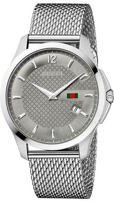 Gucci Watch , Gucci Men's YA126301 Gucci Timeless Anthracite Diamond Pattern Watch