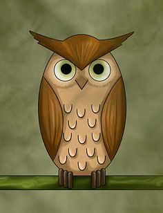 Step, by step how to draw an Owl
