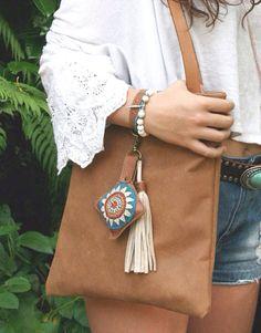 Brown leather bag...