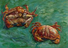 Vincent van Gogh Two Crabs painting is shipped worldwide,including stretched canvas and framed art.This Vincent van Gogh Two Crabs painting is available at custom size. Vincent Van Gogh, Art Van, Paul Gauguin, Van Gogh Arte, Theo Van Gogh, Oil Canvas, Canvas Art, Joseph Mallord William Turner, National Gallery