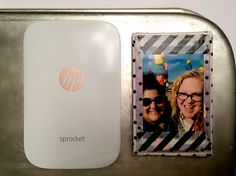 HP Sprocket Tile Magnet | Customize dollar store tile magnets with photo stickers from your HP Sprocket by following these simple steps!