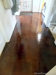 Brown Paper Floor Reveal! .