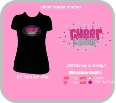 BLING rhinestone glitter cheer shirt - personalize to your team colors!