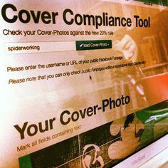 Does Your Facebook Cover Photo Obey The 20% Rule? – Cool Tool