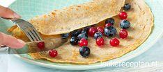 Boekweitpannenkoek - Leuke recepten Baking Recipes, Diet Recipes, Dessert Recipes, Healthy Recipes, Desserts, Healthy Food, Buckwheat Pancakes, Foodies, Vers Fruit