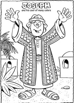 joseph and his coat of many colors coloring page lesson 30
