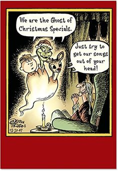 NobleWorks Ghost of Christmas Unique Funny Cards with Envelopes  12 Christmas Cards Set of 12 >>> You can find out more details at the link of the image. (This is an affiliate link)
