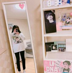 Dream Rooms For Girls Kpop - Decoration Home Army Room Decor, Army Decor, Bedroom Decor, Army Bedroom, Aesthetic Rooms, Kpop Aesthetic, Apartment Decoration, Kawaii Room, Room Goals