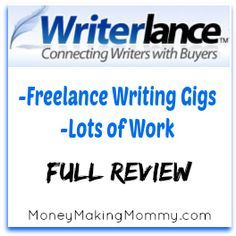 Writerlance offers a way to make money snagging writing assignments that you can do from home. Full review.