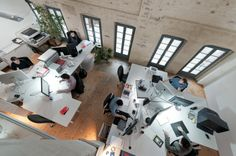Bird eye view of open plan office. #openplanoffice Cubicles.com