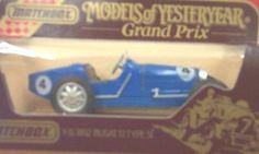 Matchbox Models of Yesteryear Y-11 1932 Bugatti Type 51 #4 Blue 1:48 Scale Diecast by Matchbox. $13.99. Matchbox Models of Yesteryear Y-11. 1932 Bugatti Type 51 #4. 1:48 Scale Diecast. Blue. Matchbox Models of Yesteryear Y-11 1932 Bugatti Type 51 #4 Blue 1:48 Scale Diecast