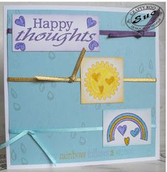 April 2016 Monthly Make from Crafty Roo Designs Make Happy, Happy Thoughts, Rainbow, Crafty, Frame, Cards, How To Make, Inspiration, Design